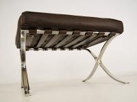 Image of the design chair Ottoman Barcelona - Dark brown
