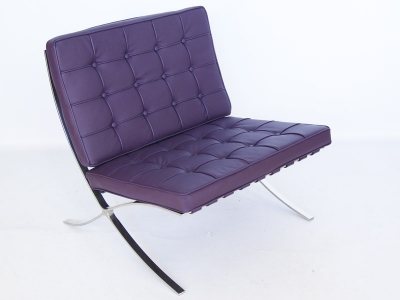 Image of the design chair Barcelona chair - Purple