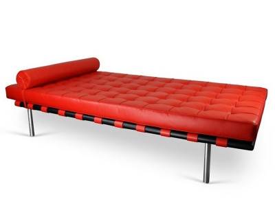 Image of the design chair Barcelona Day bed 198 cm - Red