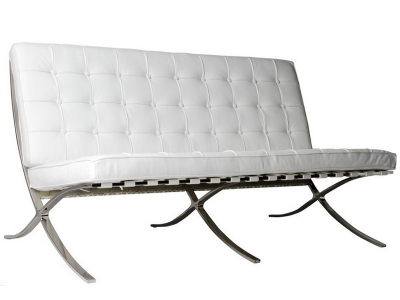 Image of the design chair Barcelona sofa 2 seater - Cream White