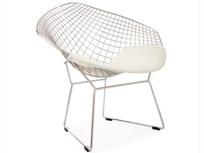 Image of the design chair Bertoia Wire Chair Diamond - White