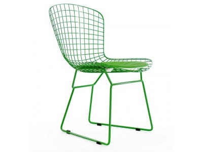Image of the design chair Bertoia Wire Side Chair - Green