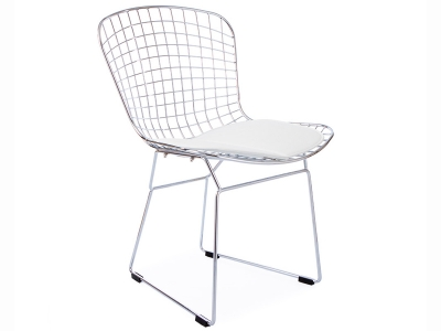 Image of the design chair Bertoia Wire Side Chair - White