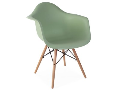 Image of the design chair DAW chair - Almond green