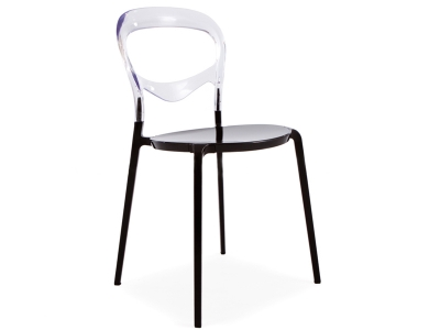 Image of the design chair Domino Chair - Transparent/Black