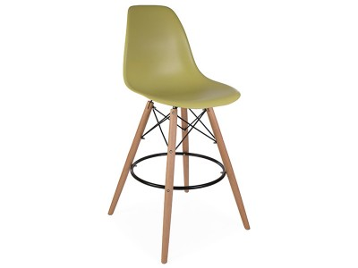 Image of the design chair DSB bar chair - Green mustard