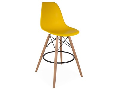 Image of the design chair DSB bar chair - Yellow mustard