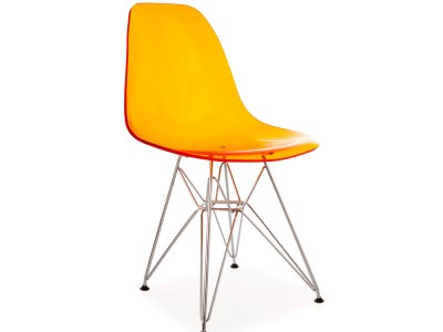 Image of the design chair DSR chair - Clear orange