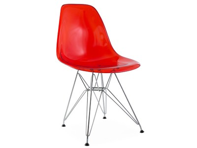 Image of the design chair DSR chair - Clear red