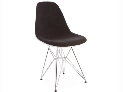 Image of the design chair DSR chair wool padded - Grey