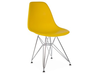 Image of the design chair DSR chair - Yellow mustard