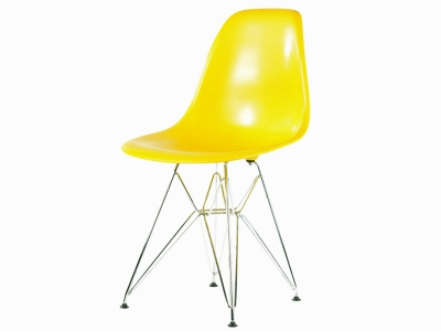 Image of the design chair DSR chair - Yellow shiny
