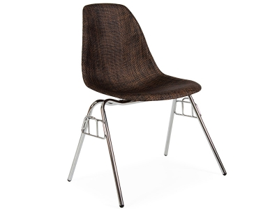Image of the design chair DSS chair Weave stackable - Cocoa