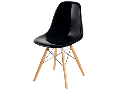 Image of the design chair DSW chair - Black shiny