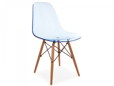 Image of the design chair DSW chair - Clear blue