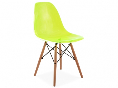 Image of the design chair DSW chair - Clear green