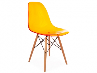 image of the design chair dsw chair clear orange