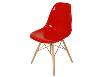 Image of the design chair DSW chair - Red shiny