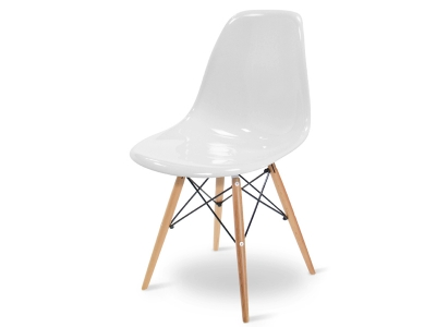Image of the design chair DSW chair - White shiny