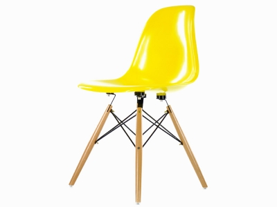 Image of the design chair DSW chair - Yellow shiny