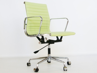 Image of the design chair Eames chair Alu EA117 - Lemon green
