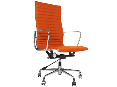 Image of the design chair Eames chair Alu EA119 - Orange