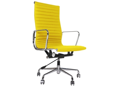 Image of the design chair Eames chair Alu EA119 - Yellow