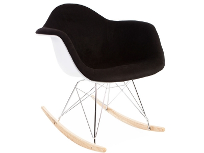 Image of the design chair Eames RAR Wool Padded - Black
