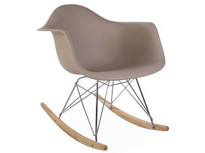 Image of the design chair Eames Rocking Chair  RAR - Beige grey
