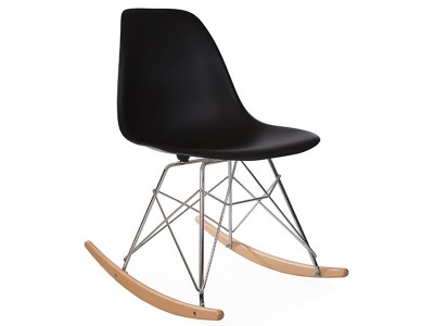 Image of the design chair Eames Rocking Chair RSR - Black