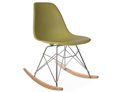 Image of the design chair Eames Rocking Chair RSR - Green mustard