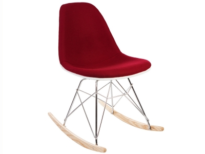 Image of the design chair Eames RSR  Wool Padded - Red