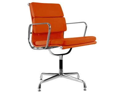 Image of the design chair Eames Soft Pad EA208 - Orange