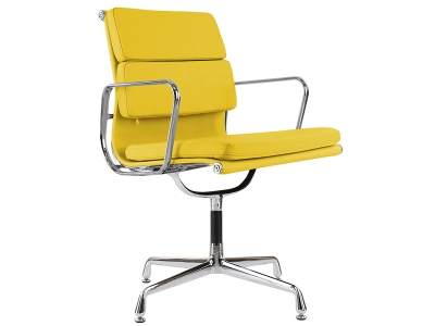 Image of the design chair Eames Soft Pad EA208 - Yellow