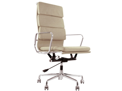 Image of the design chair Eames Soft Pad EA219 - Beige