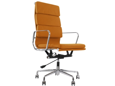 Image of the design chair Eames Soft Pad EA219 - Havana