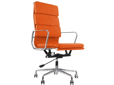Image of the design chair Eames Soft Pad EA219 - Orange