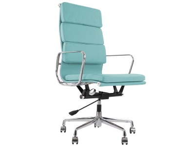 Image of the design chair Eames Soft Pad EA219 - Sky blue