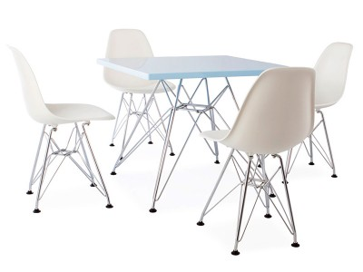 Image of the design chair Eiffel kids table - 4 DSR chairs