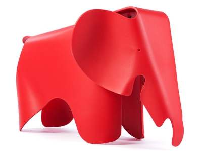 Image of the design chair  Elephant Eames - Red