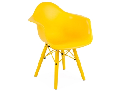 Image of the design chair Kids Chair Eames DAW Color - Yellow