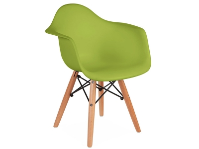 Image of the design chair Kids Chair Eames DAW - Green