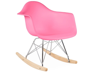 Image of the design chair Kids Eames rocking chair RAR - Pink