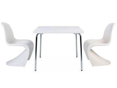 Image of the design chair Kids table Olivier - 2 Panton chairs