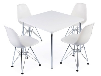 Image of the design chair Kids table Olivier - 4 DSR chairs
