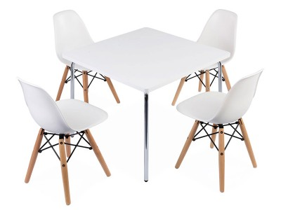Image of the design chair Kids table Olivier - 4 DSW chairs