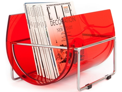 Image of the design chair Magazine rack The Basin - Red
