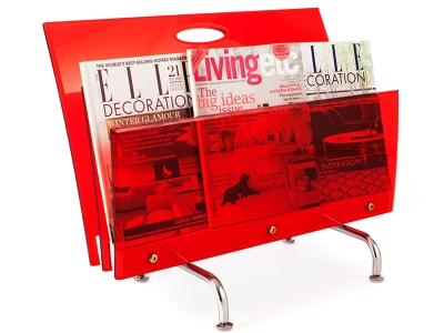Image of the design chair Magazine rack The Step - Red