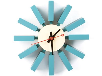Image of the design chair Mural clock Blue Bar - George Nelson