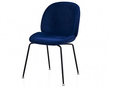 Image of the design chair Orville Chair Mr. B  - Blue Velor